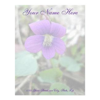 Artículos de coordinación del Wildflower violeta Plantilla De Membrete
