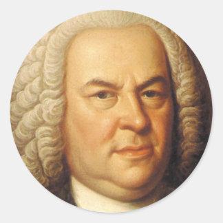 Artículos de Johann Sebastian Bach Pegatina Redonda