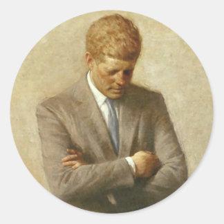 Artículos de John F. Kennedy Pegatina Redonda
