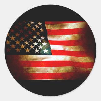 Artículos de la bandera americana pegatina redonda