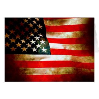 Artículos de la bandera americana tarjeta pequeña