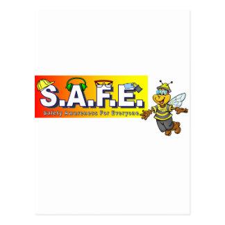 Artículos de la conciencia de la seguridad tarjeta postal