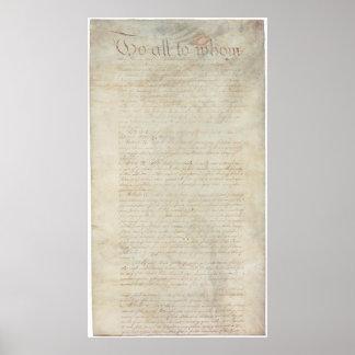 Artículos de la confederación del States_pg1 unido Póster