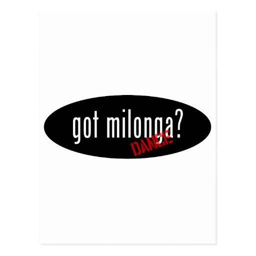 Artículos de la danza de Milonga - milonga Postal
