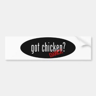 Artículos de la danza del pollo - pollo conseguido pegatina para auto