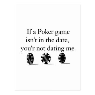 Artículos de la datación del póker tarjetas postales