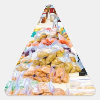 Artículos de la especialidad del ajo pegatinas trianguladas