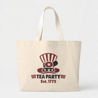 Artículos de la fiesta del té bolsa tela grande