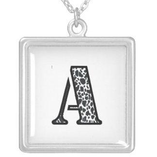 """Artículos de la joyería de la impresión """"A"""" de la"""