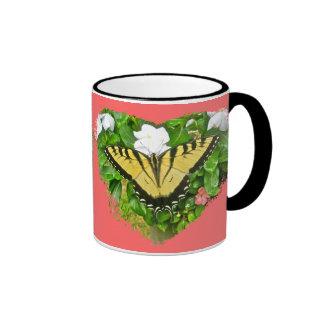 Artículos de la mariposa de Swallowtail del tigre Taza De Dos Colores