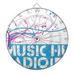 Artículos de la radio 1 de la choza de la música tablero de dardos
