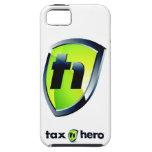 Artículos de Logo'd del héroe del impuesto iPhone 5 Case-Mate Cárcasa