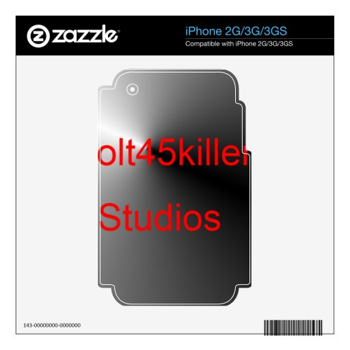 Artículos de los estudios de Colt45kiler Calcomanías Para El iPhone 3