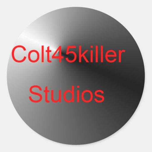 Artículos de los estudios de Colt45kiler Pegatina Redonda