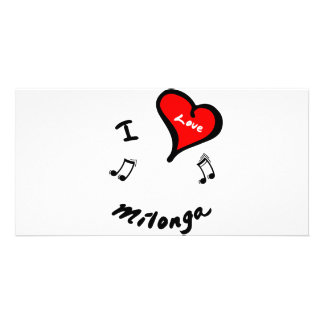 Artículos de Milonga - corazón Milonga de I Tarjetas Personales