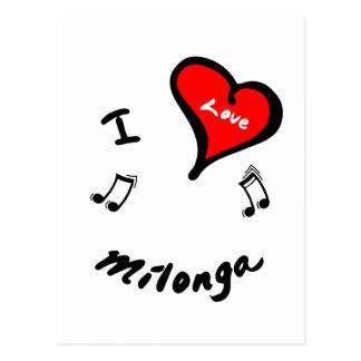 Artículos de Milonga - corazón Milonga de I Tarjeta Postal