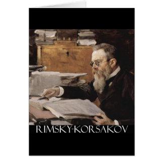 Artículos de Nikolai Rimsky-Korsakov Tarjeta De Felicitación