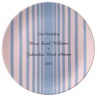Artículos de tabla del boda de la serenidad y del platos de cerámica