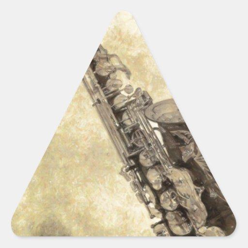 Artículos decorativos del saxofón antiguo colcomanias de trianguladas