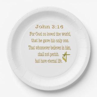 Artículos del 3:16 de Juan Platos De Papel