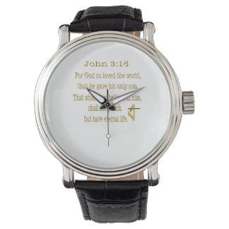 Artículos del 3:16 de Juan Relojes De Pulsera