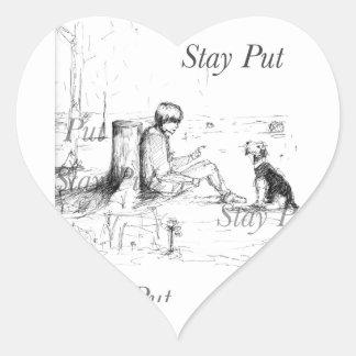 Artículos del amante del perro pegatina en forma de corazón
