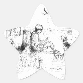 Artículos del amante del perro pegatina en forma de estrella