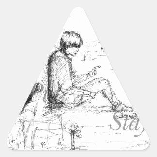 Artículos del amante del perro pegatina triangular