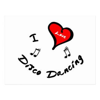 Artículos del baile del disco - baile del disco postales