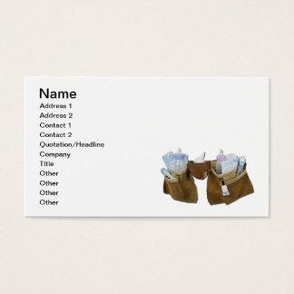 Artículos del bebé que llenan la correa de cuero tarjetas de visita