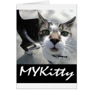 Artículos del gato de MYKitty Tarjeta Pequeña