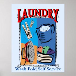 Artículos del lavadero, hierro, pernos, jabón póster