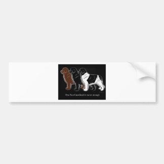 Artículos del negro y de Landseer Terranova de Bro Pegatina Para Auto