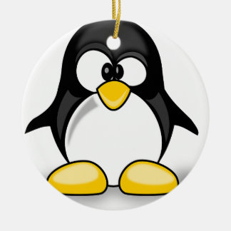 Artículos del pingüino ornamento de reyes magos