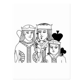 Artículos del póker del juego de tarjeta del retra tarjetas postales