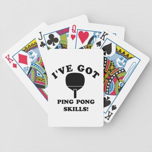 artículos del regalo de la habilidad del ping-pong baraja de cartas