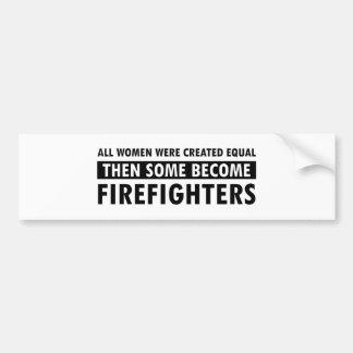 Artículos del regalo de los bomberos pegatina para auto