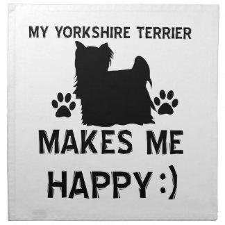 Artículos del regalo de Yorkshire Terrier Servilleta