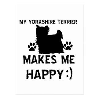 Artículos del regalo de Yorkshire Terrier Tarjetas Postales