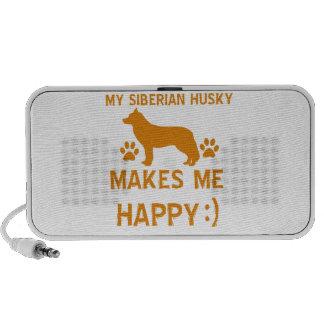 Artículos del regalo del husky siberiano iPhone altavoces