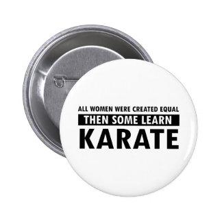 Artículos del regalo del karate pin redondo de 2 pulgadas