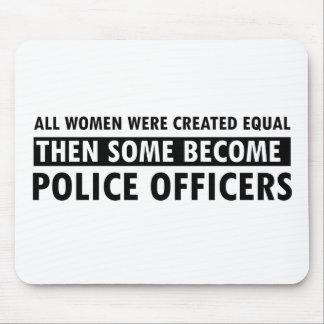 Artículos del regalo del oficial de policía tapete de ratón