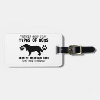artículos del regalo del perro de montaña bernese etiquetas de equipaje