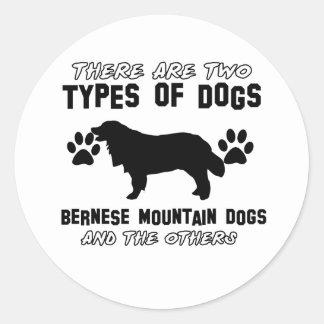 artículos del regalo del perro de montaña bernese pegatina redonda