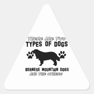 artículos del regalo del perro de montaña bernese colcomanias de triangulo