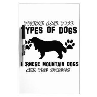 artículos del regalo del perro de montaña bernese pizarras blancas