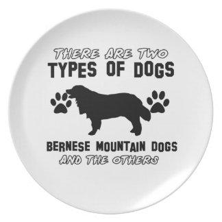 artículos del regalo del perro de montaña bernese platos para fiestas
