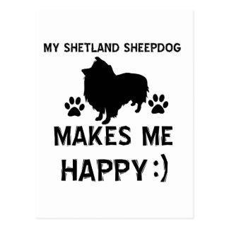 artículos del regalo del perro pastor de Shetland Postal