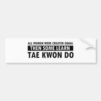 Artículos del regalo del Taekwondo Pegatina Para Auto