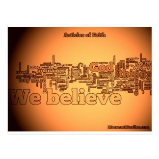 Artículos del wordle de la fe tarjetas postales